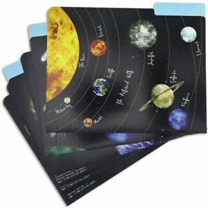 12 pack Planets Solar System File Cardstock Folders Letter Size For School Home