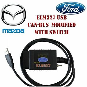 Forscan Elm327 Usb Obd2 Diagnostic Tool Canbus Scan With Switch For Mazda Ford