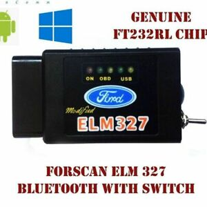 Forscan Elm327 Bluetooth Diagnostic Tool With Switch Obd2 For Ford Mazda Scanner
