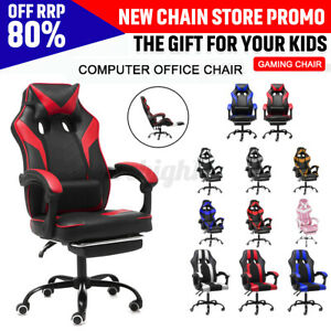 Ergonomic Executive Office Chair Computer Gaming Chair Swivel Leather Desk Seat