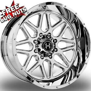 22 Inch 22x12 Hardcore Offroad Hc18 Chrome Wheels Rims 8x170 44
