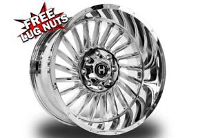 22 Inch 22x12 Hardcore Offroad Hc17 Chrome Wheels Rims 6x135 44