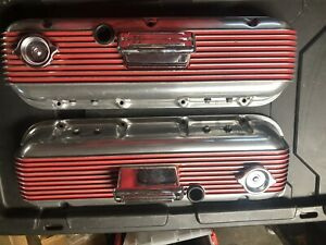 Cal Customs Vintage 396 427 454 Big Block Chevy Valve Covers With Breathers