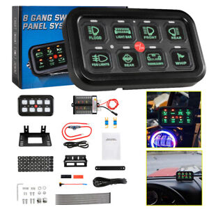 8 Gang Car On off Switch Panel Green Led For Toyota 4runner Tundra Tacoma Rav4
