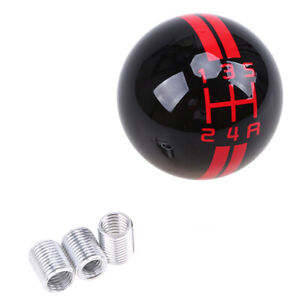 5 Speed Thread Ball Gear Shift Knob Shifter Lever For Ford Mustang Shelby Gt500