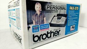 New Brother Model 575 Personal Plain Paper Fax Phone Copier Machine