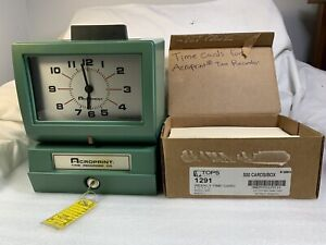 Acroprint Time Recorder Co Time Clock Model 125nr4 With Keys Sheets