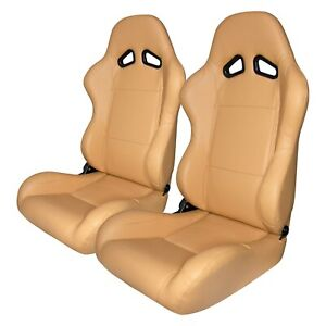 Racing Seat Cpa1001 Series Reclining Steel Tubular Frame Racing Seats Maple Tan