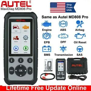 Autel Maxidiag Md806 Pro Full System Diagnost Tool Obd2 Code Scanner Srs Epb Abs