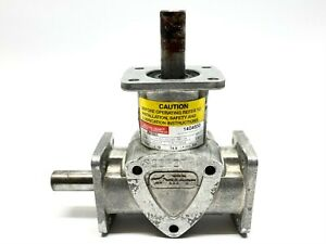 Boston Gear Ra1021 Spiral Right Angle Bevel Speed Reducer 1 00 1 Ratio