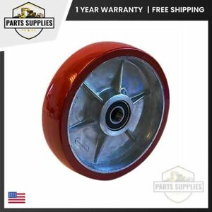 Pallet Jack Steer Wheel Poly With Aluminium Core Dims 8 X 2 With Bearings