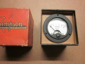 Vintage Simpson Ac Amp Gauge Model 155