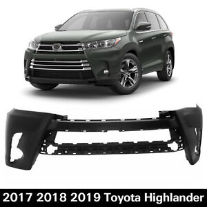 New Front Bumper Cover Replacement For 2017 2019 Toyota Highlander 521190e350160