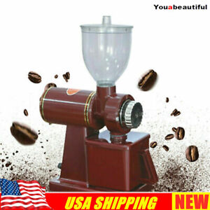 Commercial Electric Automatic Coffee Grinder Burr Espresso Bean Home Grind Red
