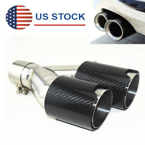2 5 Inlet Y Type Car Exhaust Tips Left Side Tail Pipe Tips Universal For Bmw