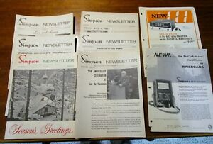 6 Vintage Simpson Electric Co Newsletters 1969 73 W Test Equipment Print Ads