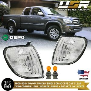 Clear Corner Light For 2000 04 Toyota Tundra Regular Or Access Cab Pickup Truck