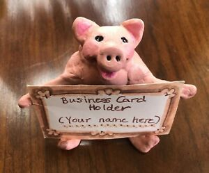 Cute Pink Pig Handcrafted Business Card Holder