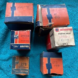 6 Vintage Nos New Old Stock Car Ignition Starter Parts 1950s 1960s 1970s