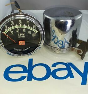 Stewart Warner 10 000 Rpm Tachometer 810750 Vintage Hotrod Rat Rod Drag Race Car