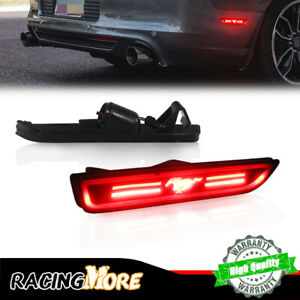 2x Smoked Red Led Rear Side Marker Signal Light Lamps For 2010 2014 Ford Mustang