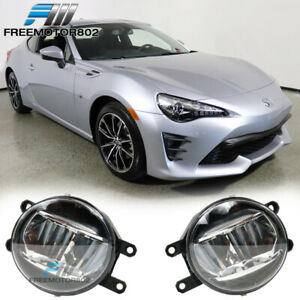 Universal Toyota Cars Front Bumper Fog Lights Lamps Kit Clear Lens