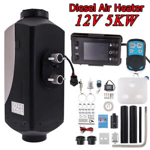 All In One 12v 5kw Diesel Air Heater W lcd Monitor For Car Boat Truck Suv Bus Rv