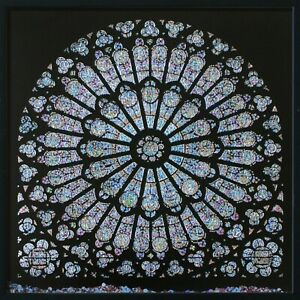 Dxf File Cnc Vector Dxf Plasma Router Laser Cut Dxf Files Notre Dame Rose Window
