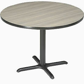 Interion 36 Round Restaurant Lunchroom Counter Height Table Charcoal