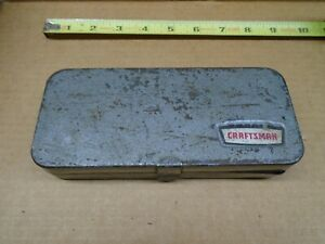 Vintage Craftsman Usa Metal Socket Set Case No Tools