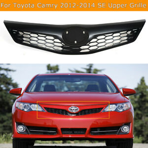 Front Bumper Upper Hood Grille For 2012 2013 2014 Toyota Camry Se Model Black