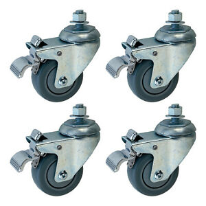 Jet 98 0130 Swivel Wheels For Drum Sanders With Brake System 4 Pack used