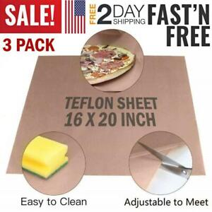 Teflon Sheets For Heat Press Non Stick Iron Resistant Reusable Craft Mat 3 Pack