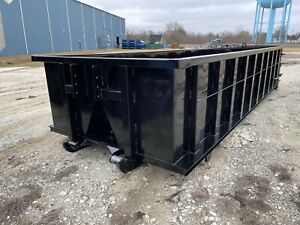 20 Yard Box Style Roll off Container 36 Hook lift Bar And Cable Lift