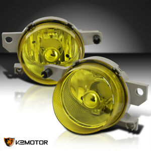 For 1993 1997 Honda Civic Del Sol Amber yellow Bumper Driving Fog Lights Lamps