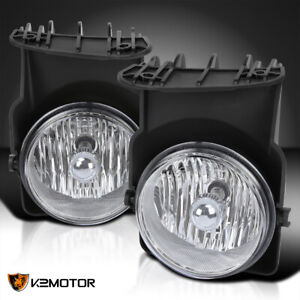 For 2003 2006 Gmc Sierra 1500 2500 3500 Hd Clear Driving Fog Lights Lamp W bulbs