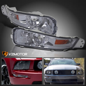 Fits 2005 2009 Ford Mustang Gt Smoke Bumper Lights Signal Lamps Left right 05 09