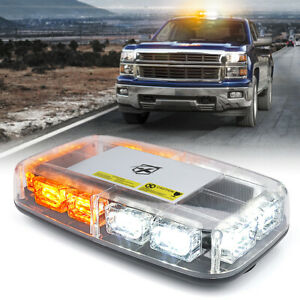 Xprite Amber White 36 Led Strobe Light Beacon Rooftop Emergency Warning Trucks