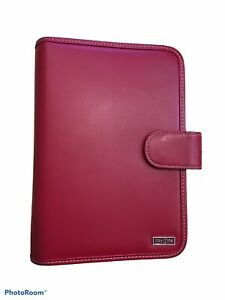 Day 1 One Red Franklin Covey Binder Planner Vegan Leather 7 ring Organizer