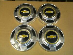 73 87 Chevy Truck Bowtie Dog Dish Hubcaps Hub Caps 10 1 2