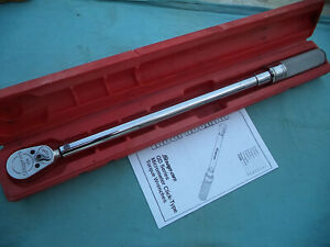 Snap On 1 2 Drive Fixed Head Torque Wrench qc3r250 50 250 Ft lb W case X lnt