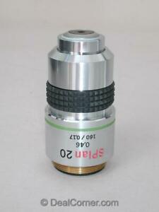 Olympus Splan 20x 0 46 160mm Tl Microscope Objective