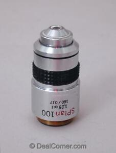 Olympus Splan 100x 1 25 Oil 160mm Tl Microscope Objective