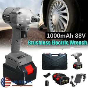 10000mah 220v Electric Cordless Impact Wrench W 2 Lithium Battery Eu Adapter