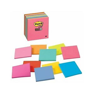 Post it 3 X 3 Super Sticky Notes 450 Count assorted Colors