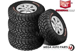 4 General Grabber X3 Lt265 70r17 121 118q E Red Letter Rugged Mud Terrain Tires