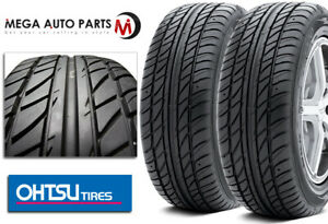 2 Falken Ohtsu Fp7000 225 60r15 96h All Season Traction High Performance Tires