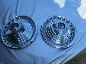 1963 Ford Galaxie Nos Deluxe 500 Hubcaps 14 2 Hubcaps Only