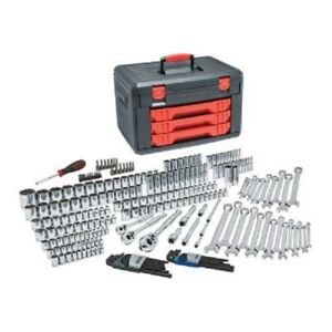 Gearwrench 239 Piece Sae Metric Mechanic S Tool Set With 3 Drawer Case 1 4 3