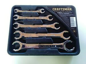 Craftsman Professional New Sae Flare Line Nut Wrench Set Polished